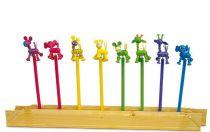 Small Foot Sada dřevěných tužek postaviček Afrika 8ks