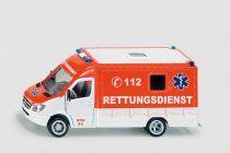 SIKU Super - Záchranný vůz Mercedes Sprinter, měřítko 1:50