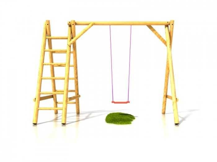 Dřevěné hračky Dřevěné dětské hřiště - Stavebnice dětská houpačka Ondra