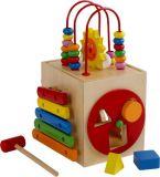Dřevěné hračky - Aktivní motorická kostka sluníčko