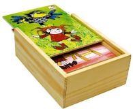 Dřevěné hračky Bino motorické hry pohádky vyšívání