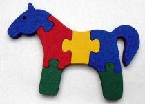 Makovský Dřevěné vkládací puzzle Kůň bez rámečku