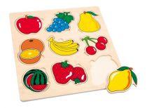 Small Foot Dřevěné vkládací puzzle ovoce
