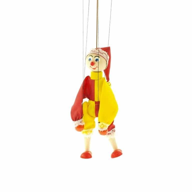 Dřevěné hračky Dřevěné loutky - Kašpárek Česká dřevěná hračka