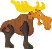 Dřevěné vkládací puzzle z masivu - Velký los