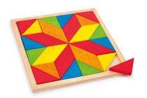 Dřevěný hlavolam - Hra - Mozaika hvězda
