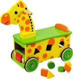 Dřevěné hračky Bigjigs Baby Dřevěný motorický vozík žirafa Bigjigs Toys