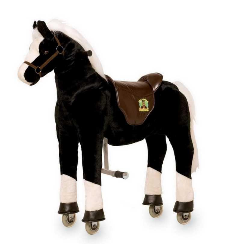 Dřevěné hračky Small Foot Pohyblivý dětský jezdecký kůň na kolečkách Hrom Small foot by Legler