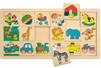 Woody Přilož kam co patří (3x6) žirafa Suzie