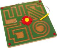Small Foot Dřevěné hračky magnetické bludiště abstrakt