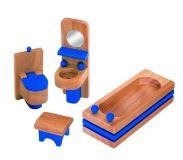 Dřevěné hračky Woody - Nábytek do domečku Koupelna