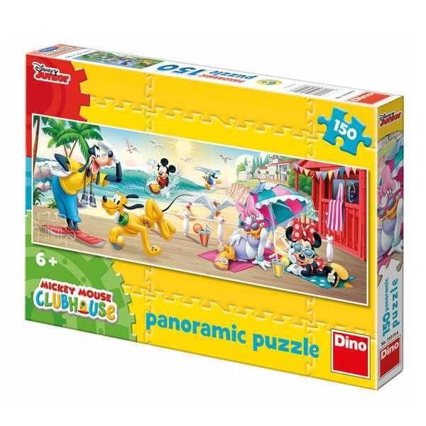 Dřevěné hračky Dino Papírové puzzle 150 dílků MICKEYHO letní radovánky