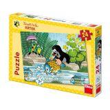 Papírové puzzle 24 dílků Krtek a rybka