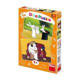 Dino Papírové puzzle večerníčky 2x48 dílků