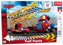 Puzzle v rámu s motivy Cars 15 dílů