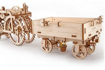 Dřevěné hračky Ugears Dřevěná stavebnice 3D mechanické Puzzle Vlečka