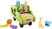Small Foot Dřevěná vkládačka autobus se zvířátky safari