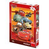 Papírové puzzle 100 XL dílků CARS na poušti