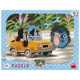 Papírové puzzle 12 dílků Krtek a autíčko