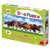 Dino Papírové puzzle 150 dílků koně