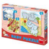 Dino Papírové puzzle ZOO 2-5 dílků