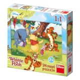 Papírové puzzle 24 dílků maxi Medvídek PÚ