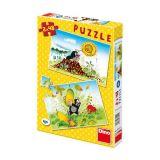 Dino Papírové puzzle dílků Krtkův svět 2x48 dílků