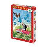 Dino Papírové puzzle Krtek a autíčko 66 dílků