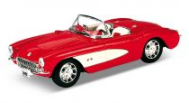 Welly - Chevrolet Corvette 1957 cabriolet 1:24 červená