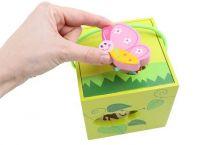 Dřevěné hračky Small Foot Motorická kostka louka Small foot by Legler
