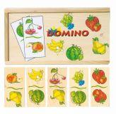 Dřevěné hračky Woody - dřevěné hry - Domino Ovoce