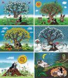 Dřevěné hračky Dino Dřevěné obrázkové kostky Krtkův rok 12ks