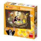 Papírové puzzle 24 dílků maxi Krteček maluje