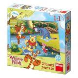 Papírové puzzle 24 dílků maxi Medvídek PÚ u vody