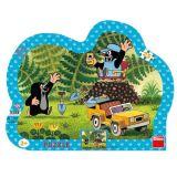 Dino Papírové puzzle Krtek se žlutým autem 25 dílků