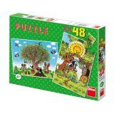 Dino Papírové puzzle léto s Krtečkem 2x48 dílků
