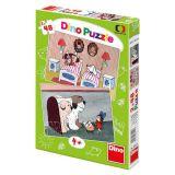Dino Papírové puzzle pohádky s pejsky 2x48 dílků