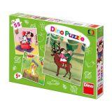 Dino Papírové puzzle české pohádky 3x55 dílků