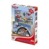 Dino Papírové puzzle letadla 66 dílků