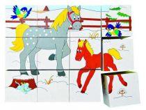 Woody Kubus 3x4 zvířátka v ročních obdobích