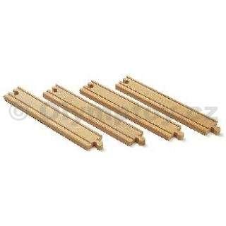 Dřevěné dlouhé koleje rovné, 216 mm, 4 ks