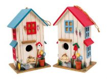 Dětské dekorace - Ptačí budka vila  1ks