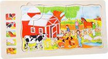 Dřevěná hračka - Vrstvené puzzle Farma