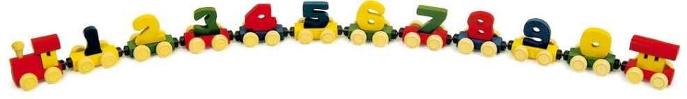 Dřevěné hračky Dřevěné hračky - Dřevěný vláček s čísly Small foot by Legler