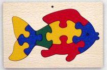 Dřevěné hračky - vkládací puzzle - Ryba v rámečku