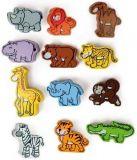 HAPE dřevěné hračky - dřevěné barevné africké zvířátka