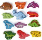 HAPE dřevěné hračky - dřevění barevní dinosauři