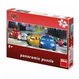 Dřevěné hračky Dino Papírové puzzle 150 dílků CARS na okruhu panoramic