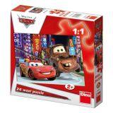 Papírové puzzle 24 dílků maxi CARS 2