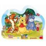 Papírové puzzle 25 dílků schovávaná s medvídkem PÚ